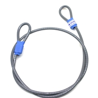 Security Cable,  double-loop coated steel